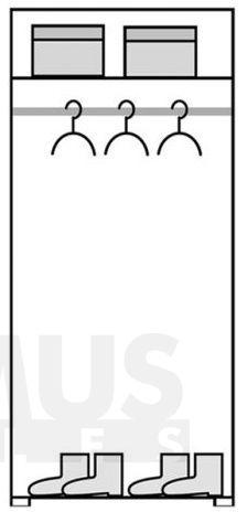 Passionata PS1 Skapis ar drēbju pakaramo