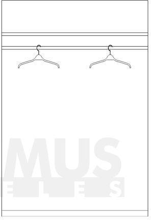 Combino CMBS82 Skapis ar drēbju pakaramo