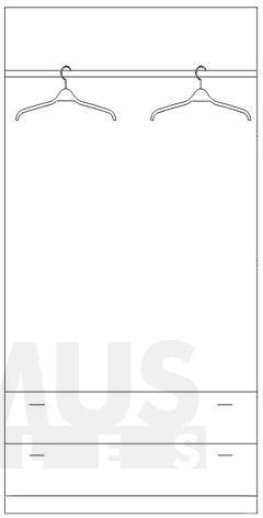 Kora Lora KS1 Skapis ar drēbju pakaramo